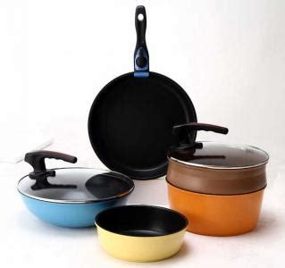 Moremall Pallas Multi Handle Ceramic Pan Set wts pallas 10 pieces set non stick cookware