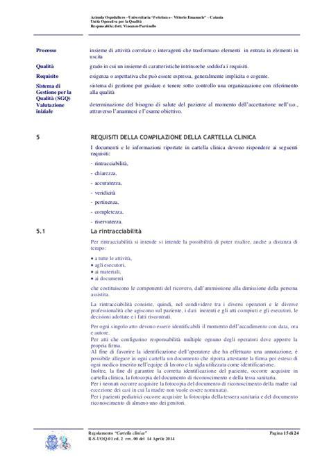 regolamento aziendale interno regolamento aziendale quot cartella clinica quot 14 aprile 2014