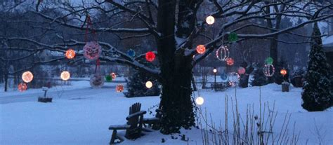 christmas sphere outdoor lights outdoor christmas decorating ideas yard envy