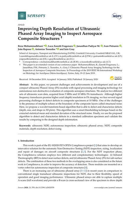 (PDF) Improving Depth Resolution of Ultrasonic Phased