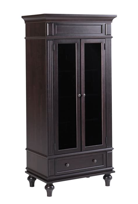 Glass Armoire Furniture by Walton Armoire With Glass In Door Ohio Hardwood