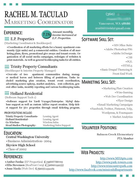 Modern Resume Sles Modern R 233 Sum 233 Update Left Brain Right Brain