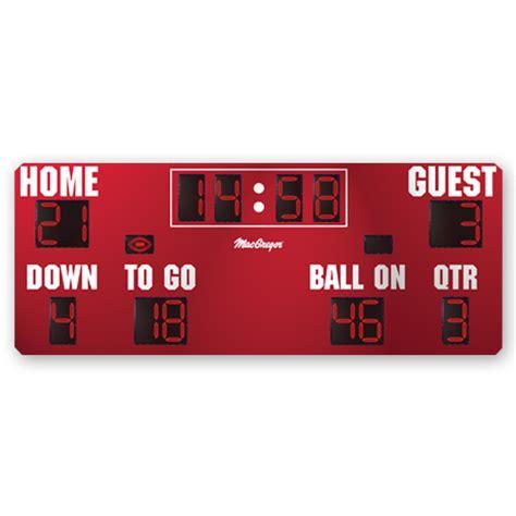 football scoreboard coloring page macgregor 20 x 8 football scoreboard color option