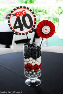 table centerpieces for birthday black and silver 40th birthday for him