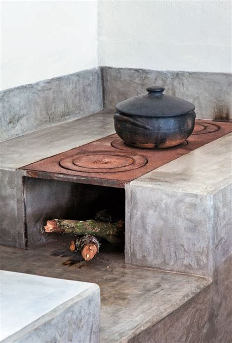 built  wood burning stove   tiny kitchen tiny