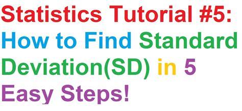 statistics tutorial online video statistics tutorial 5 how to find standard deviation sd