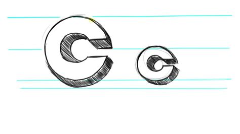 Drawing B C by How To Draw 3d Letters C Uppercase C And Lowercase C In