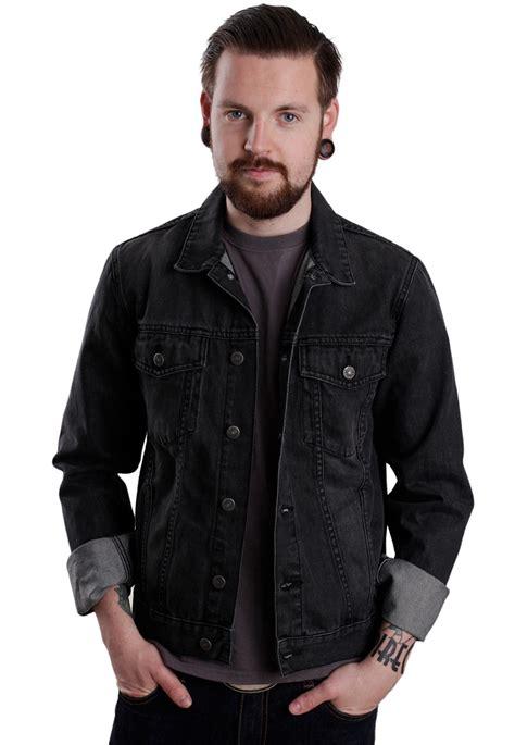 Denim Jaket Black Pria Cowok cheap monday staple black heavy jacket impericon worldwide