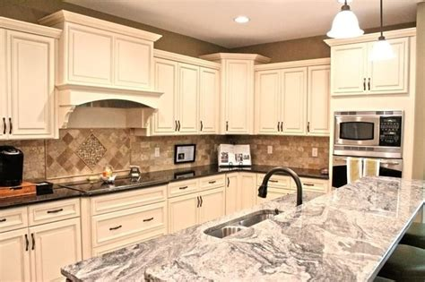 Dual Tone Kitchen Cabinets Fabuwood Cabinetry Wellington Ivory Finish Wellington Spice Two Tone Kitchen Cabinets Two