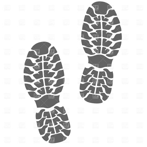 running shoe prints shoe tracks royalty free vector clip image 1079