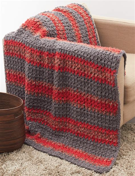 bernat afghan knitting patterns striped crochet afghan in bernat soft boucle knitting