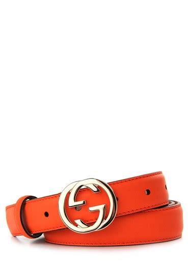 Gucci Ns Leather Orange gucci orange leather belt in orange lyst