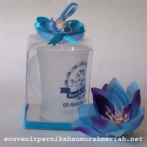 souvenir gelas gagang bunga murah meriah unik di jakarta