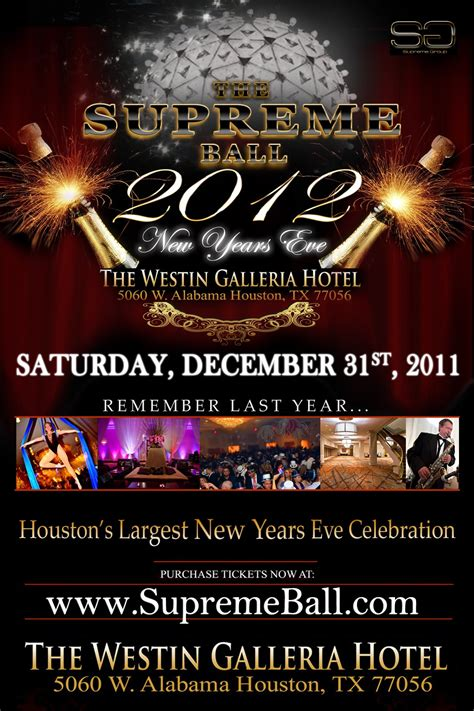 westin new years supreme at houston s westin galleria on new year s