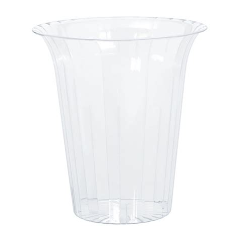 buffet plastic containers buffet clear plastic medium flared cylinder containers x 3 ebay