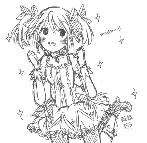 anime magical girl coloring pages magical girl meduka by sketchy cat on deviantart