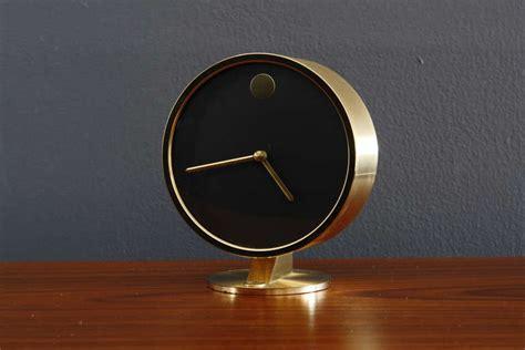 Mid Century Modern Desk Clock Vintage Mid Century Howard Miller Desk Clock At 1stdibs