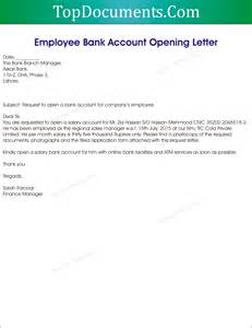Request Letter Format For Bank Account Opening Bank Account Opening Letter For Employee Top Docx