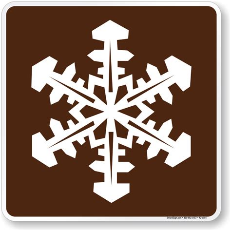the color of a recreation area sign is winter recreation area symbol sign for csite sku k2 1164