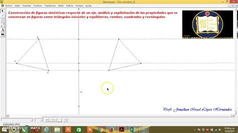 figuras geometricas simetricas construcci 243 n de figuras sim 233 tricas respecto a un eje