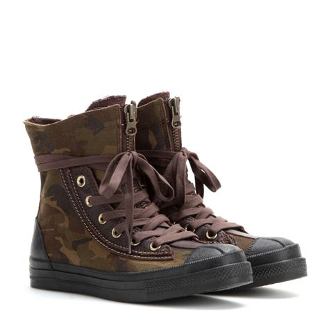 converse chuck all sneaker boot lyst converse chuck all combat boot high top