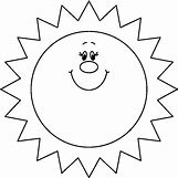 Happy Face Sun Black And White | 808 x 808 bmp 82kB