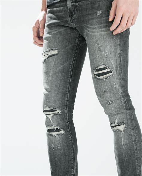 fashion grey gray ripped jeans bbg clothing