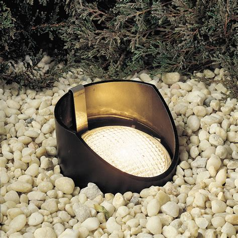landscape well lights kichler 15088bk 12v outdoor in ground well light