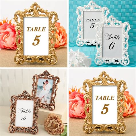 Wedding Table Number Cards And Holders