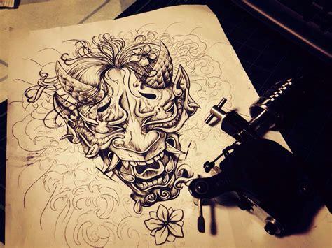 hannya mask chest tattoo hannya tattoo drawing 한야 타투 드로잉 tatoo pinterest
