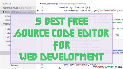 best free text editor 5 best free text editor for web development codexworld