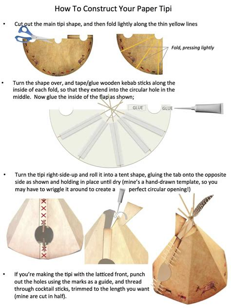 How To Make Paper Teepee - a paper reservation