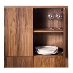 stockholm cabinet with 2 drawers walnut veneer 90x107 cm