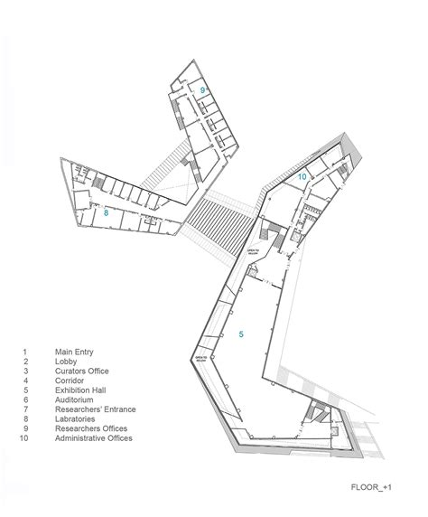 floor plan of museum gallery of geology museum leemundwiler architects 12