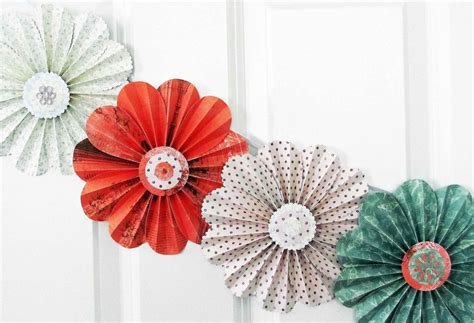 flower decor paper flowers floral garland decor home wall decor