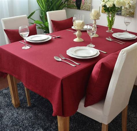 solid colored thick cotton table cloths table cover