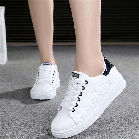 Boots Sepatu Cewek Wanita Bintang White 2017 sneakers white running shoes sport shoes leather arena