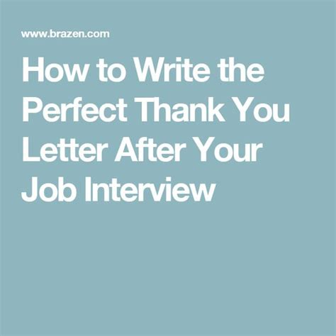 how to write the thank you letter after your
