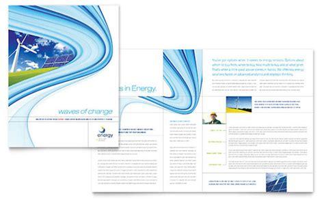 Energy Environment 11x17 Half Fold Brochure Templates 11x17 Brochure Template
