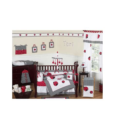 ladybug crib bedding sets sweet jojo designs ladybug 9 crib bedding set