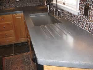 Concrete Tile Countertop by Concrete Countertop Embedded Backsplash