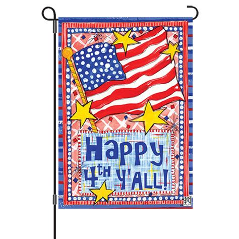 Sale Flag Banner Happy Karakter happy 4th y all reversible decorative garden flag