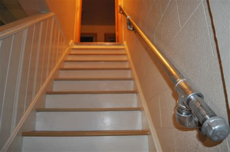 Galvanized Handrail by Carri Us Home Diy Industrial Handrail