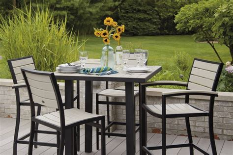 bar top patio furniture bar height patio furniture costco chicpeastudio