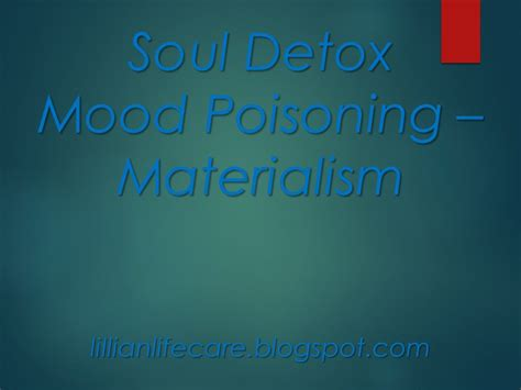 Soul Detox Leader S Guide by Lillian Easterly Smith Lifecare Soul Detox Materialism