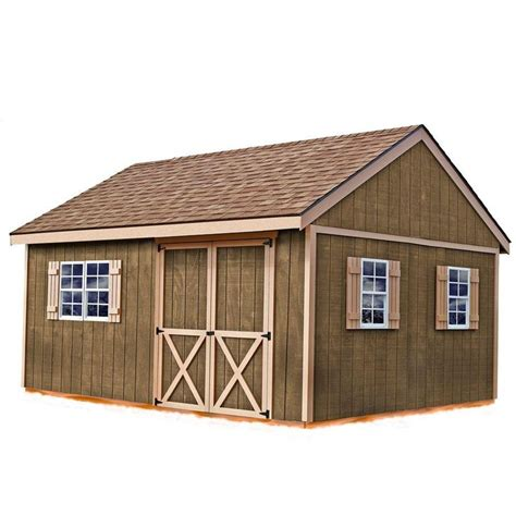 new castle 16 ft x 12 ft wood storage shed kit with floor
