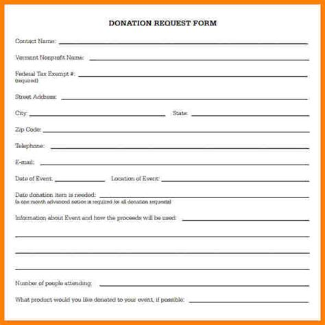 contribution form template donation request forms template anuvrat info