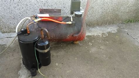 Handmade Air - air compressor from an air conditioner