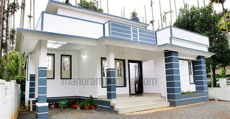 Design Home 880 Sqft 730 Sq Ft Beautiful Kerala Home Design With Plan