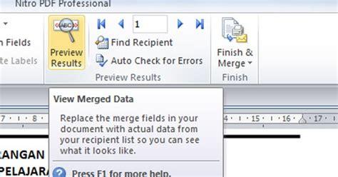 cara membuat model virus influenza mudah membuat skhun dengan fasilitas mail merge mailings